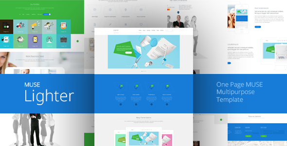 ThemeForest Lighter One Page MUSE Template 10444587