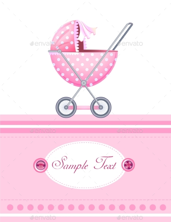 GraphicRiver Baby Arrival Card 10486992