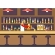 Bar Restaurant Cafe with Barkeeper Character Symbol - GraphicRiver Item for Sale