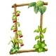 Wooden Frame with Leaves  - GraphicRiver Item for Sale
