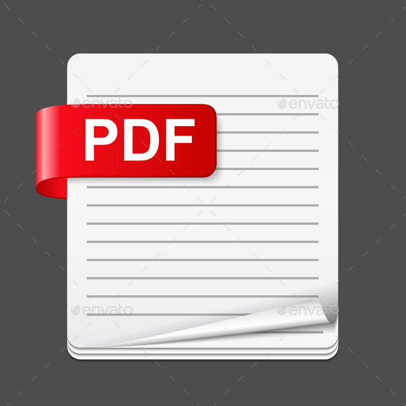 GraphicRiver PDF File Icon 10487121