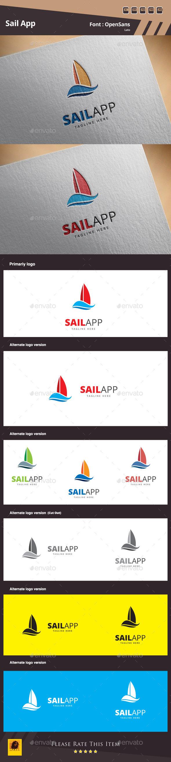 GraphicRiver Sail App Logo Template 10487177