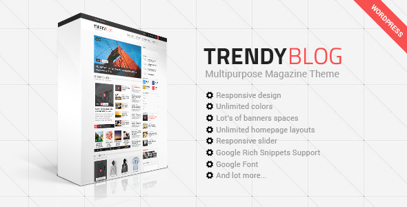 ThemeForest TrendyBlog Multipurpose Magazine Theme 10487210