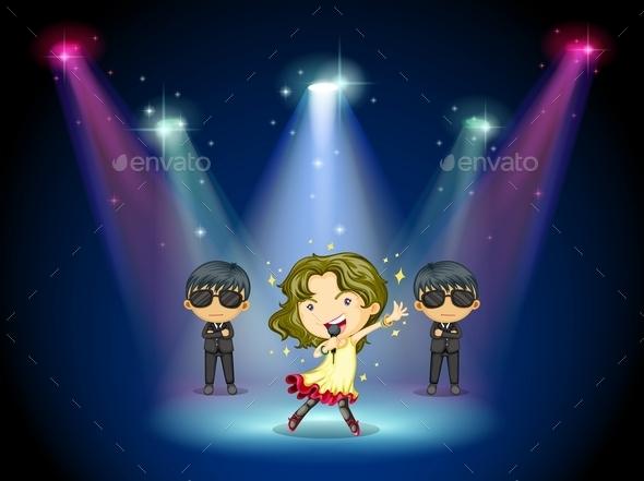 GraphicRiver Singer Center Stage 10487237