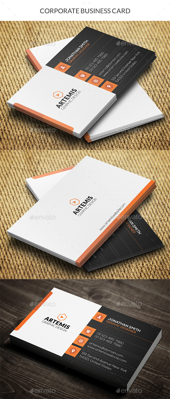 GraphicRiver Corporate Business Card 10487239