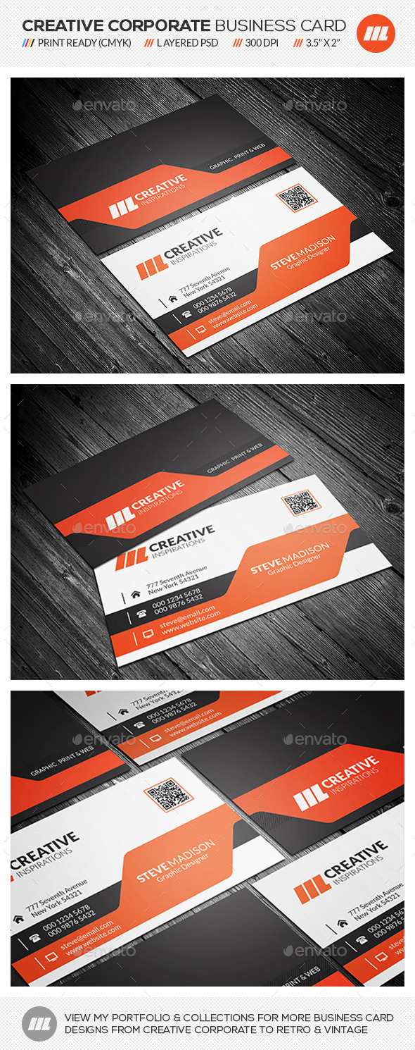 GraphicRiver Modern Corporate Business Card 10487247