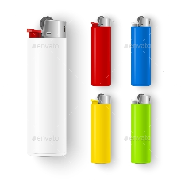 GraphicRiver Set of Lighters 10487287