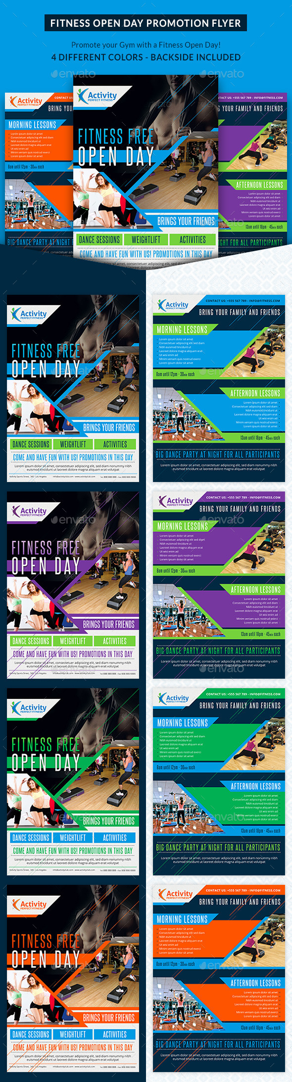 GraphicRiver Fitness and Gym Open Day Promotion Flyer 10487498