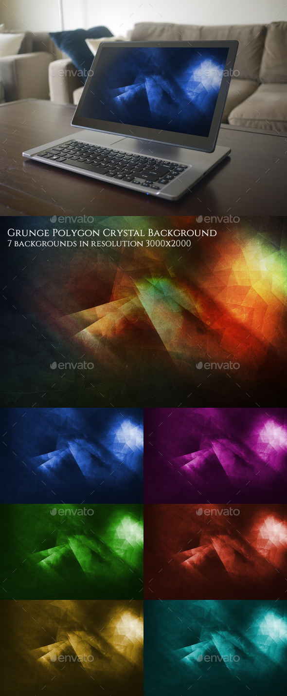GraphicRiver Grunge Polygon Background 10487500