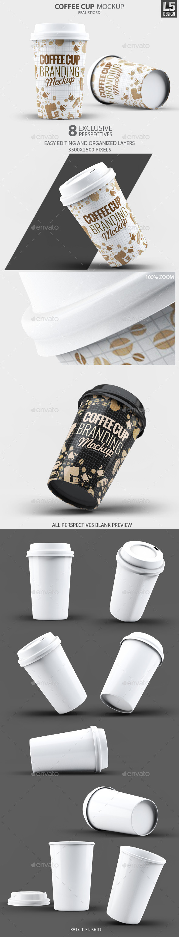 GraphicRiver Coffee Cup Mock-Up 10487506