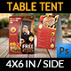 Restaurant and Cafe Table Tent Template Vol8 - GraphicRiver Item for Sale