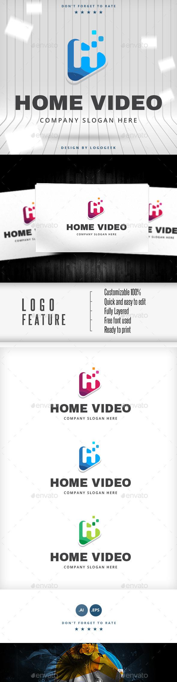 GraphicRiver Home Video Logo 10487601