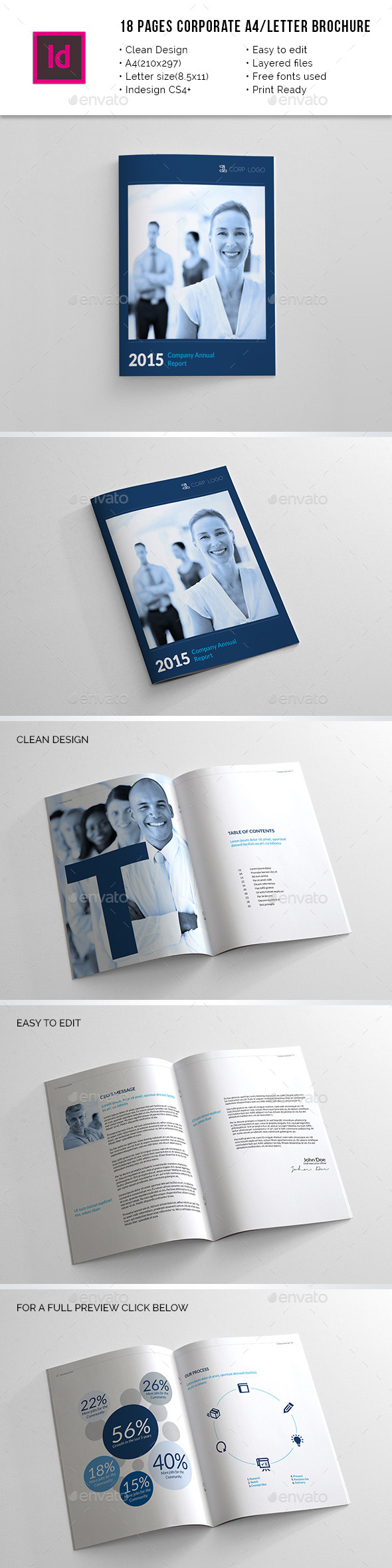 GraphicRiver 18 Pages Corporate A4 Letter Annual Report 10445046