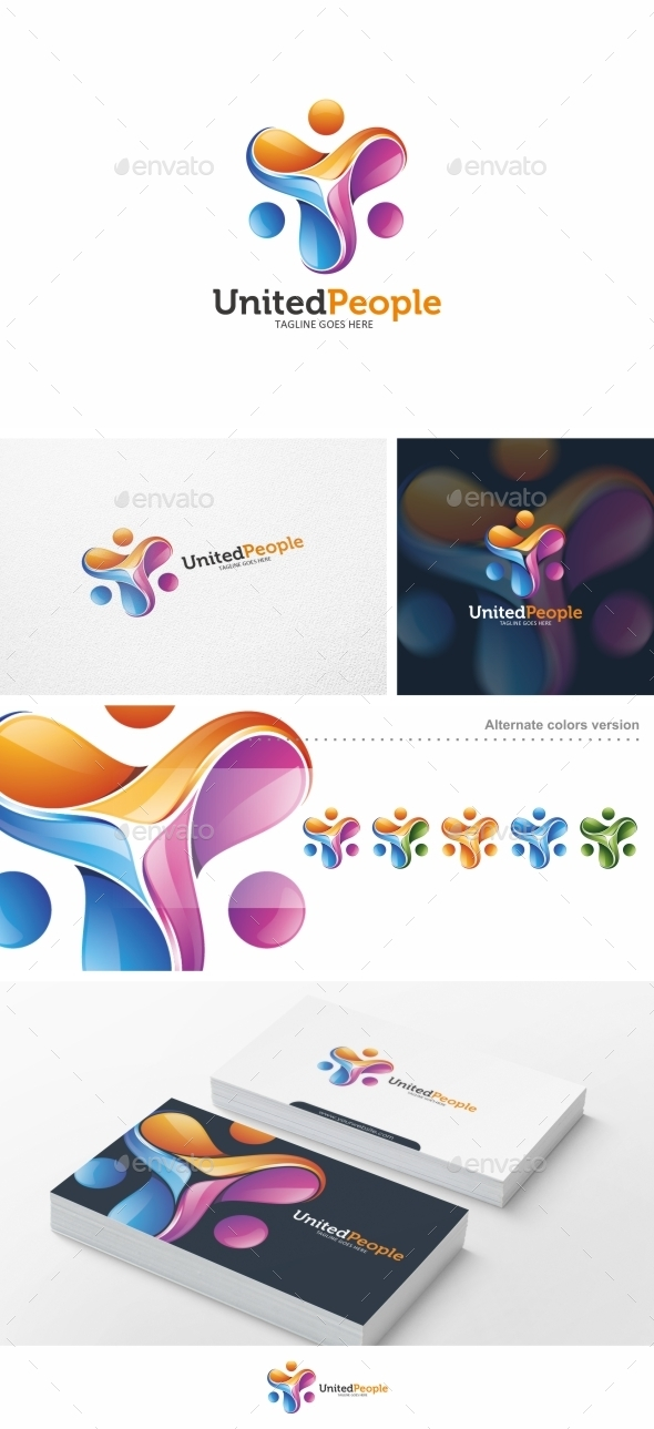 GraphicRiver United People Logo Template 10487745