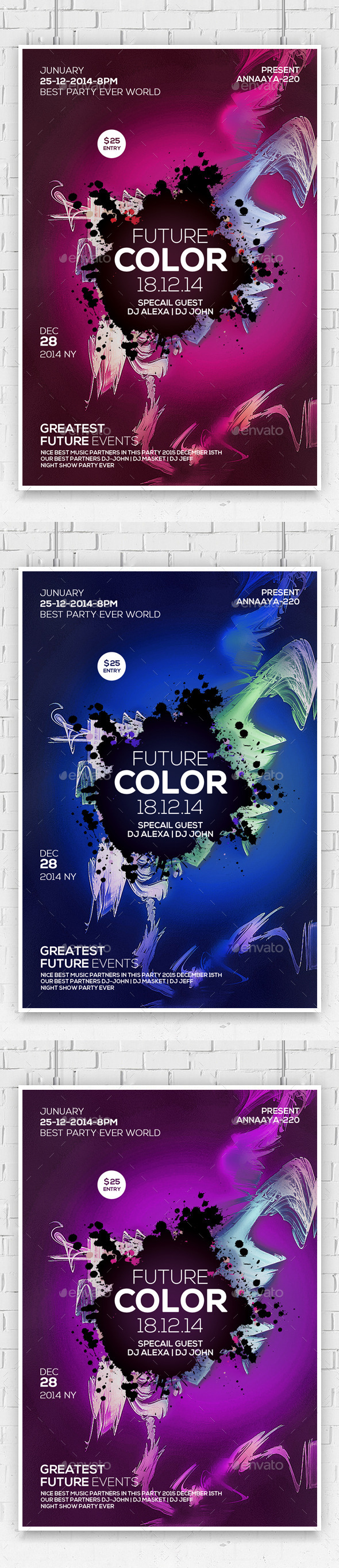 GraphicRiver Future Trap City Beatz Party Flyer 10487920