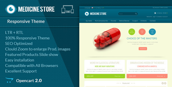 Medicine - Pharmacy Opencart Theme - Health & Beauty OpenCart
