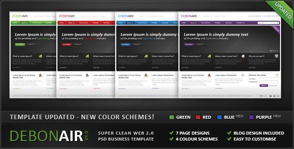 ThemeForest Debonair Super Clean Web 2.0 Business Template 98125