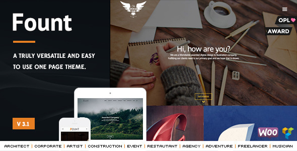 Fount - One & Multipage Hybrid Wordpress Theme - Miscellaneous WordPress
