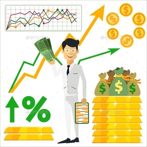 GraphicRiver Trader Holding Dollars 10488213