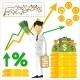 Trader Holding Dollars - GraphicRiver Item for Sale