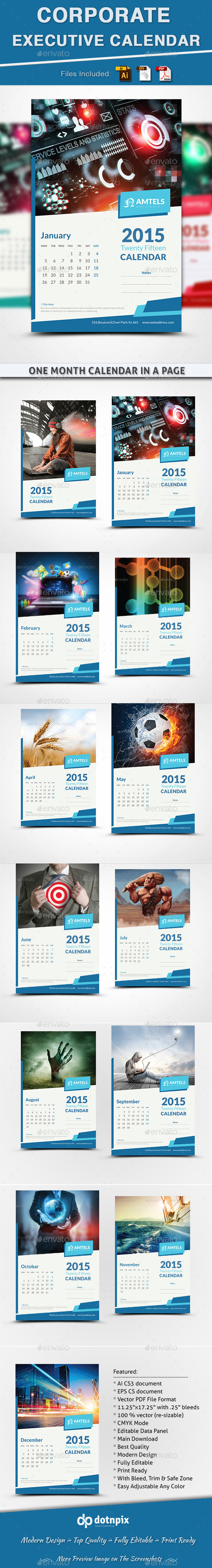 GraphicRiver Corporate Executive Calendar 10488433