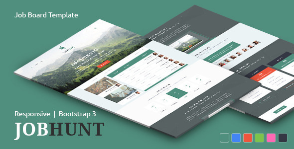 ThemeForest JobHunt Elegant Job Board Template 10488484