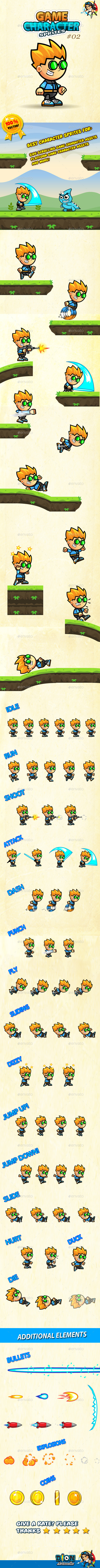 GraphicRiver Game Character Sprites 02 10488558