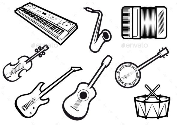 GraphicRiver Acoustic and Electric Musical Instruments 10488638