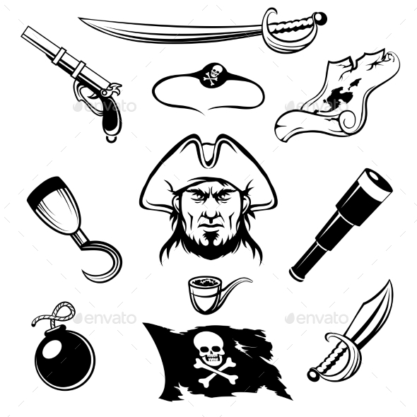 GraphicRiver Pirate Icons 10488688