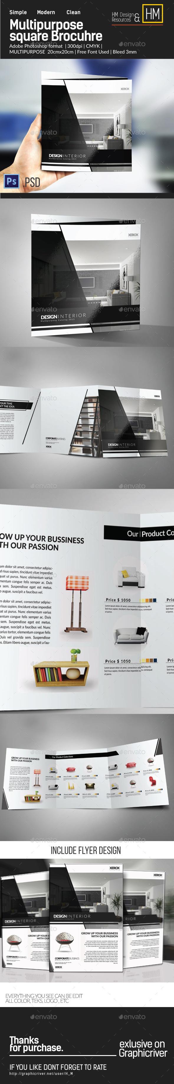 GraphicRiver Square Modern Multipurpose Brochure Trifold 10488934