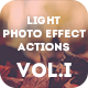 Light Photo Effect Actions Photoshop Vol.I - GraphicRiver Item for Sale