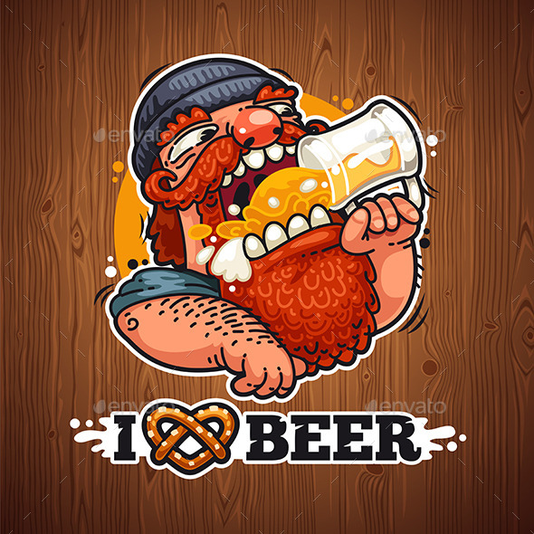 GraphicRiver Man Loves Beer 10486332