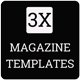 3x Magazine Templates Bundle - GraphicRiver Item for Sale