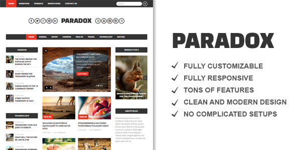 Paradox Premium WordPress Magazine - News / Editorial Blog / Magazine