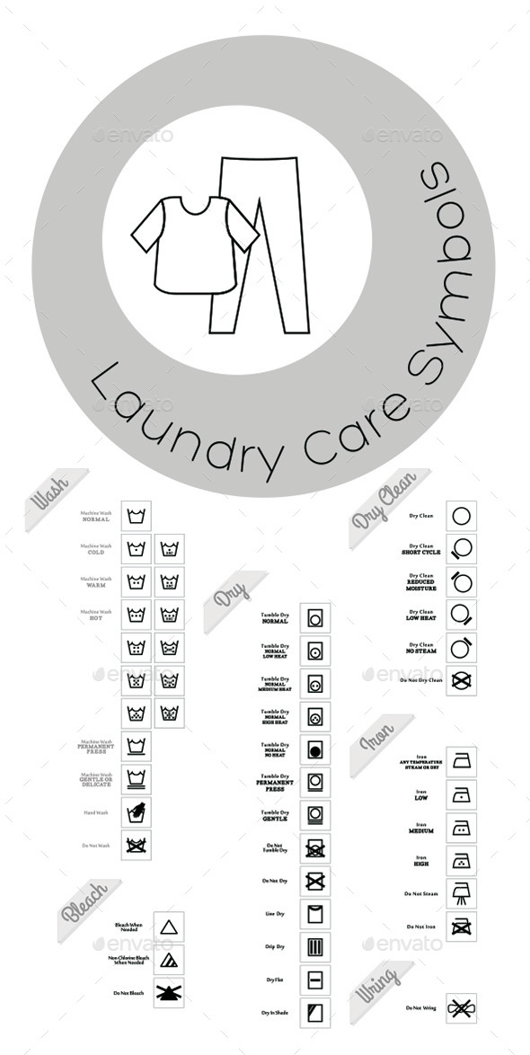 GraphicRiver Laundry Care Icons 10489334