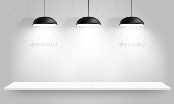 GraphicRiver Black Ceiling Lamps 10489452