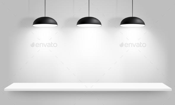 GraphicRiver Black Ceiling Lamps 10489452