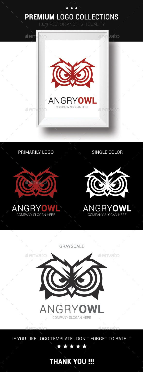 GraphicRiver Angry Owl 10489635