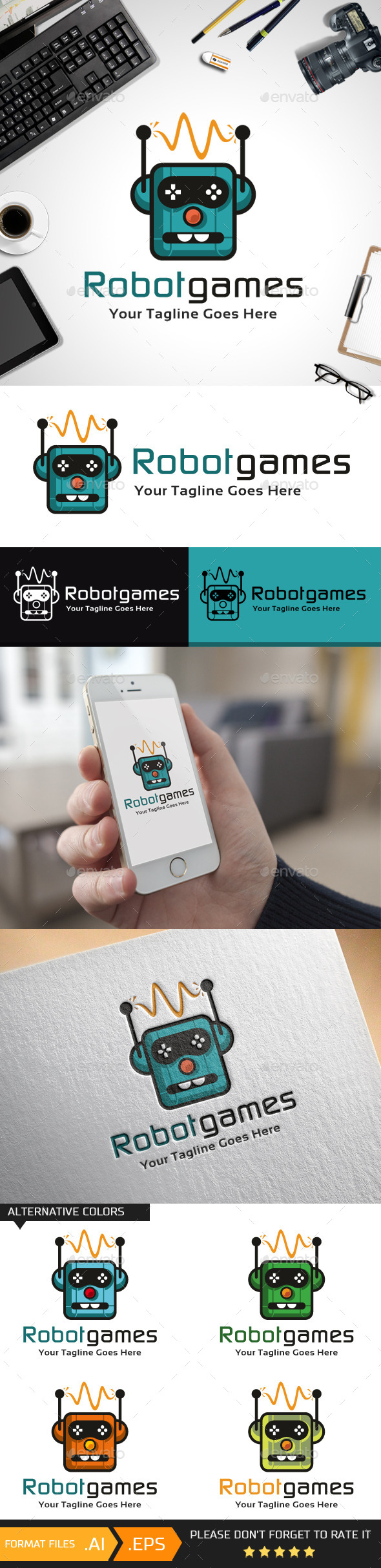 Robot Games Logo Template