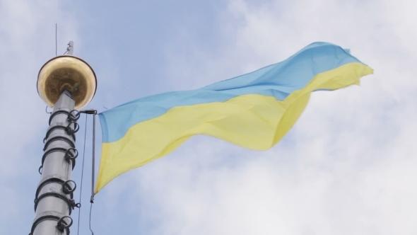 VideoHive Flagstaff Ukrainian Flag 10490056