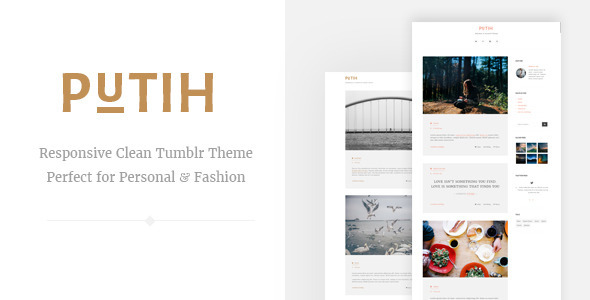 ThemeForest Putih Clean Personal Tumblr Theme 10443760