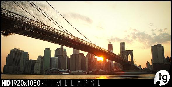 New York- Brooklyn Bridge Sunset