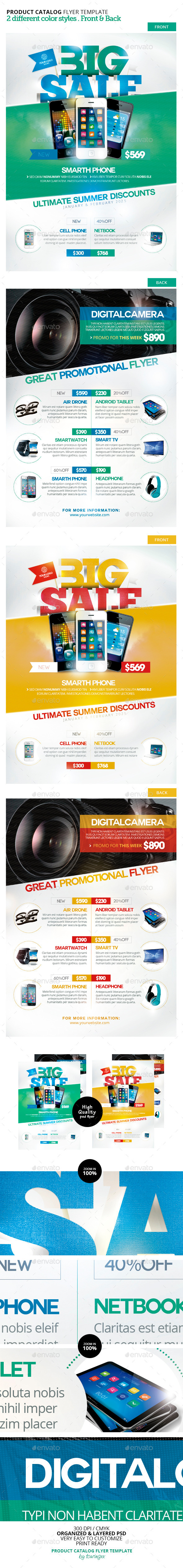 GraphicRiver Product Catalog Flyer Template 10490907