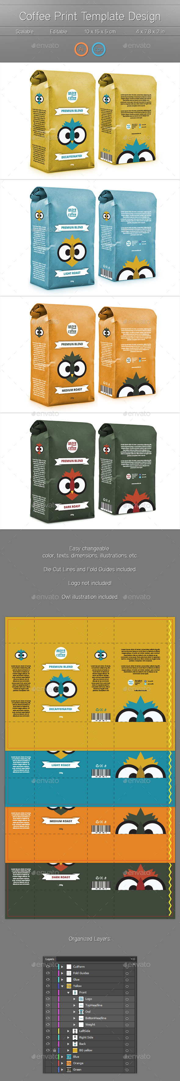 GraphicRiver Package Print Template 10491126