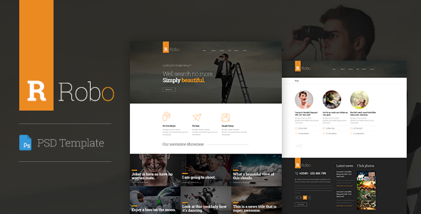 Download Robo Creative PSD Template PSD Templates Free