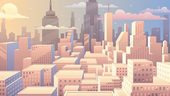 GraphicRiver Cityscape Sunrise 10491278