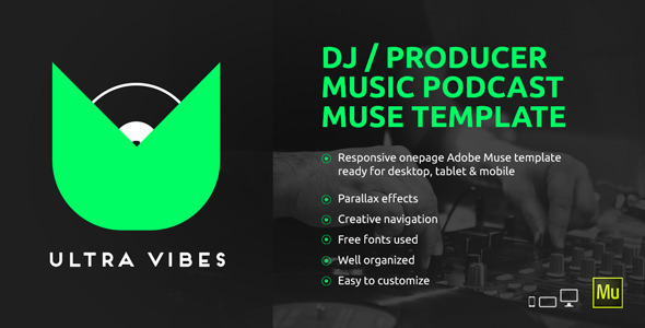 ThemeForest Ultra Vibes DJ Producer Podcast Muse Template 10491353