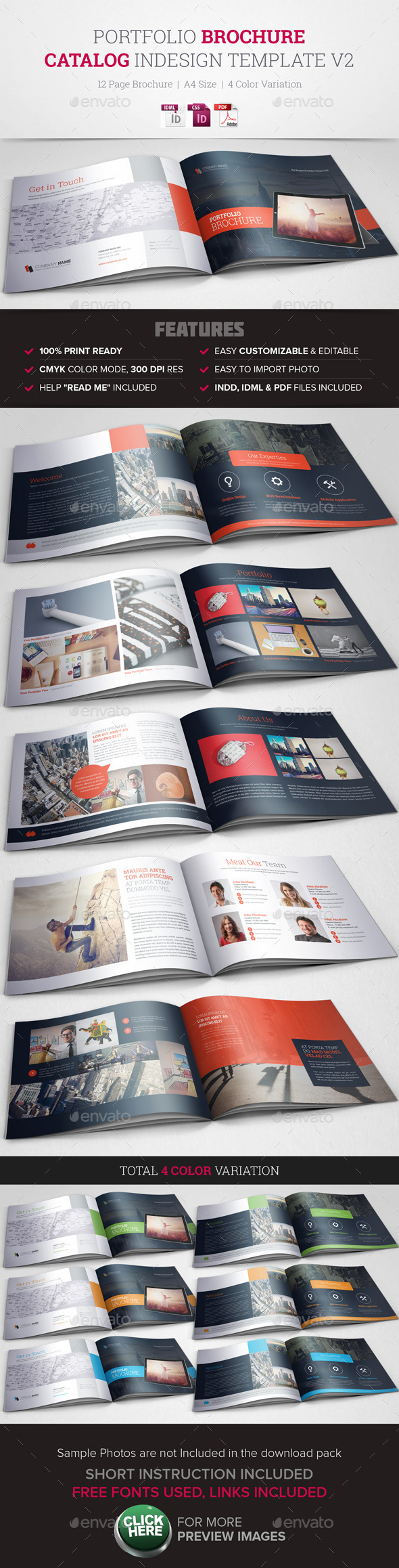 GraphicRiver Portfolio Brochure InDesign Template v2 10491396