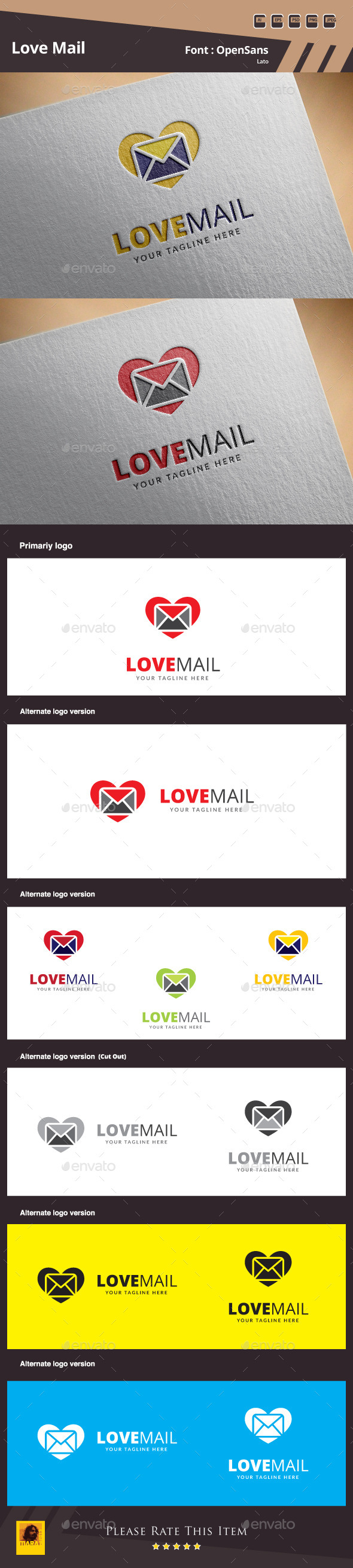 GraphicRiver Love Mail Logo Template 10491863