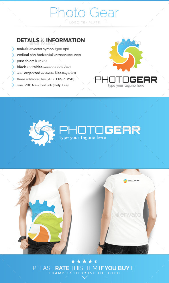 GraphicRiver Photo Gear Logo Template 10492004